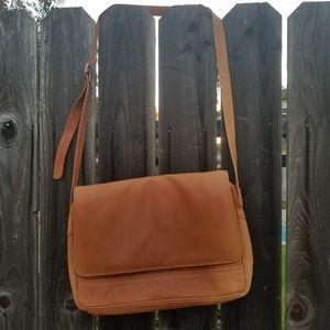 Tano Genuine Leather Messenger Crossbody Bag